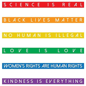 Science is Real Black Lives Matter (Stripes design) by BOBSMITHHHHH