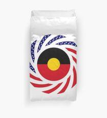 Australian Aboriginal American Multinational Patriot Flag Series Duvet Cover
