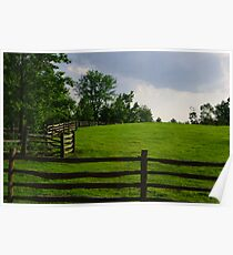 Fence on a Hill Poster