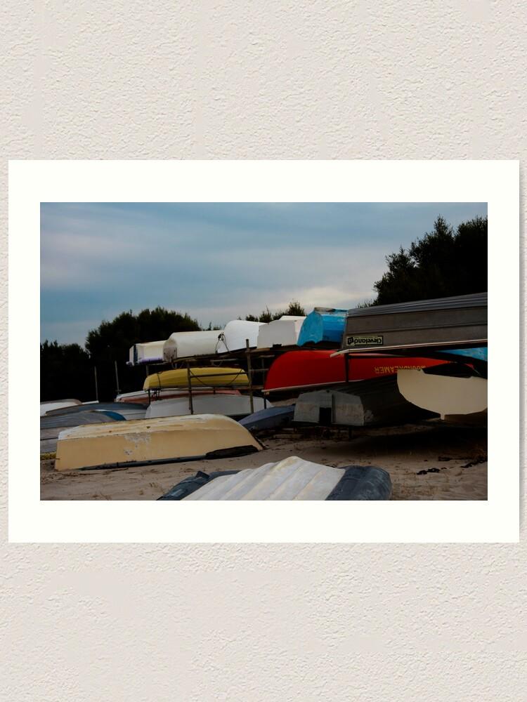 Alternate view of Boats Art Print