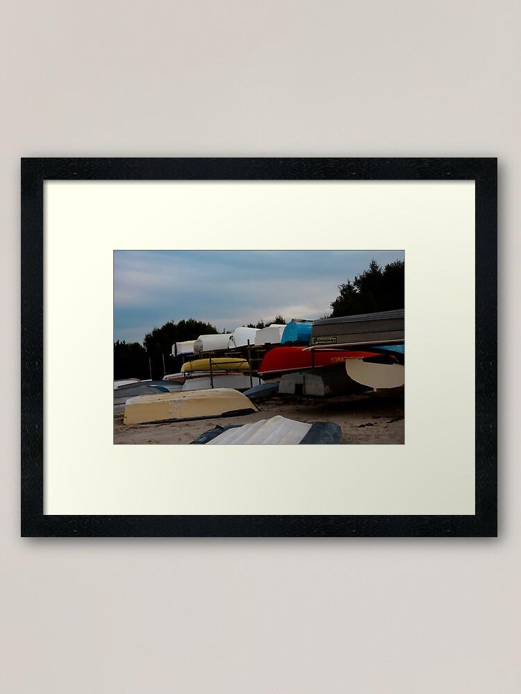 Alternate view of Boats Framed Art Print
