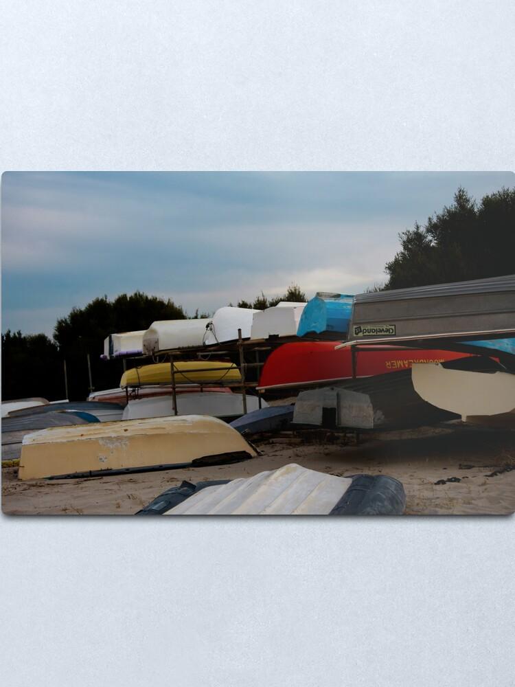 Alternate view of Boats Metal Print