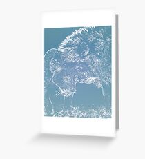 Cuddling Lions Greeting Card