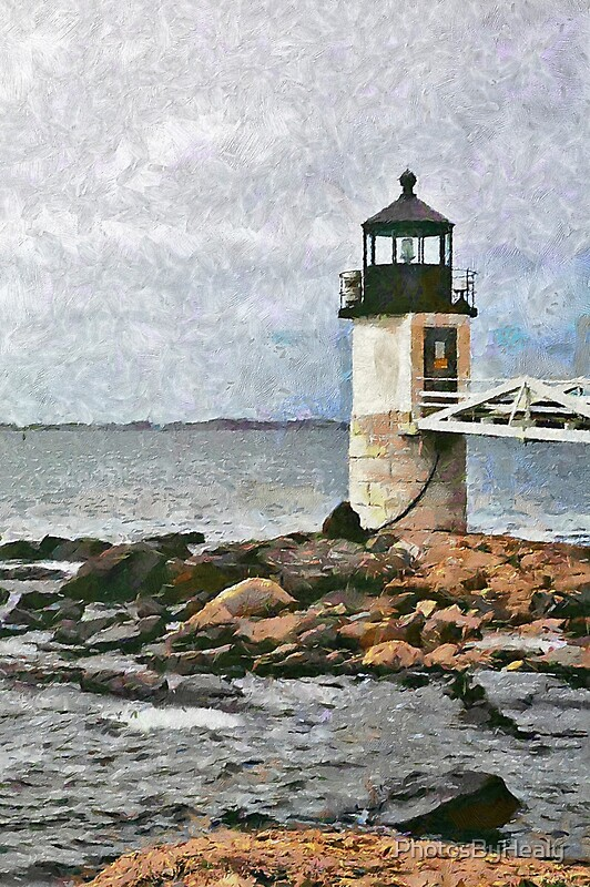 Marshall Point Light II - painted by Photos by Healy