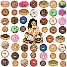 Donut Disturb Me Print by Laura Hutton