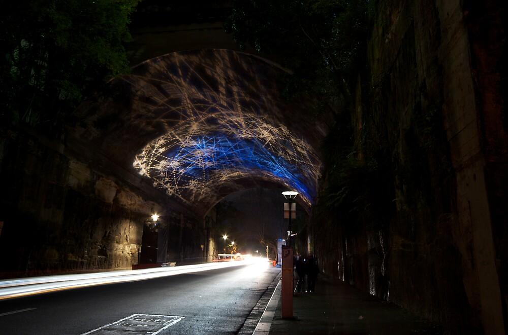 Argyle St Tunnel Vivid Festival by Zachary Law