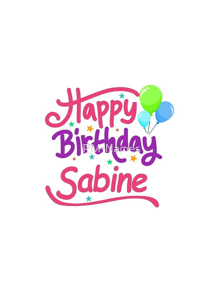Top Mousseline Femme Joyeux Anniversaire Sabine Par Pm Names