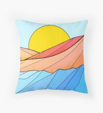 The beach and the sea Throw Pillow