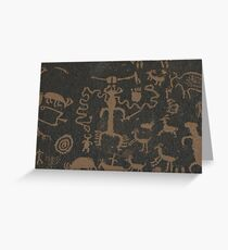 Pictographs Greeting Card
