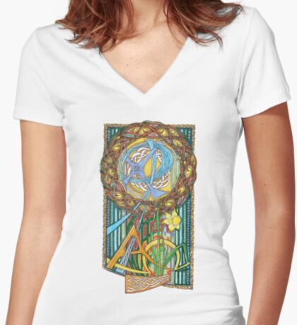 Alpha and Omega Women's Fitted V-Neck T-Shirt