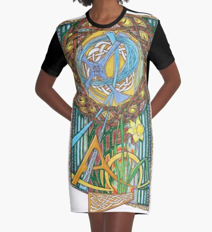 Alpha and Omega Graphic T-Shirt Dress