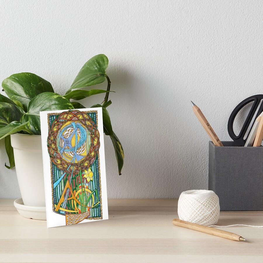 Alpha and Omega Art Board Print