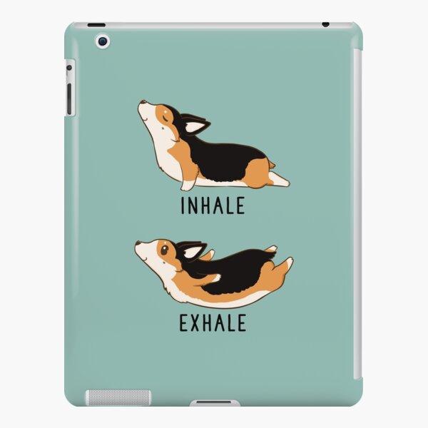Inhale Exhale Tri Color Corgi Yoga iPad Snap Case