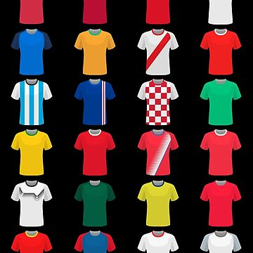 Russia 2018 qualified teams shirts by ideasfinder