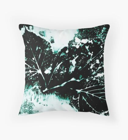 Feuille Charme Turquoise Coussin