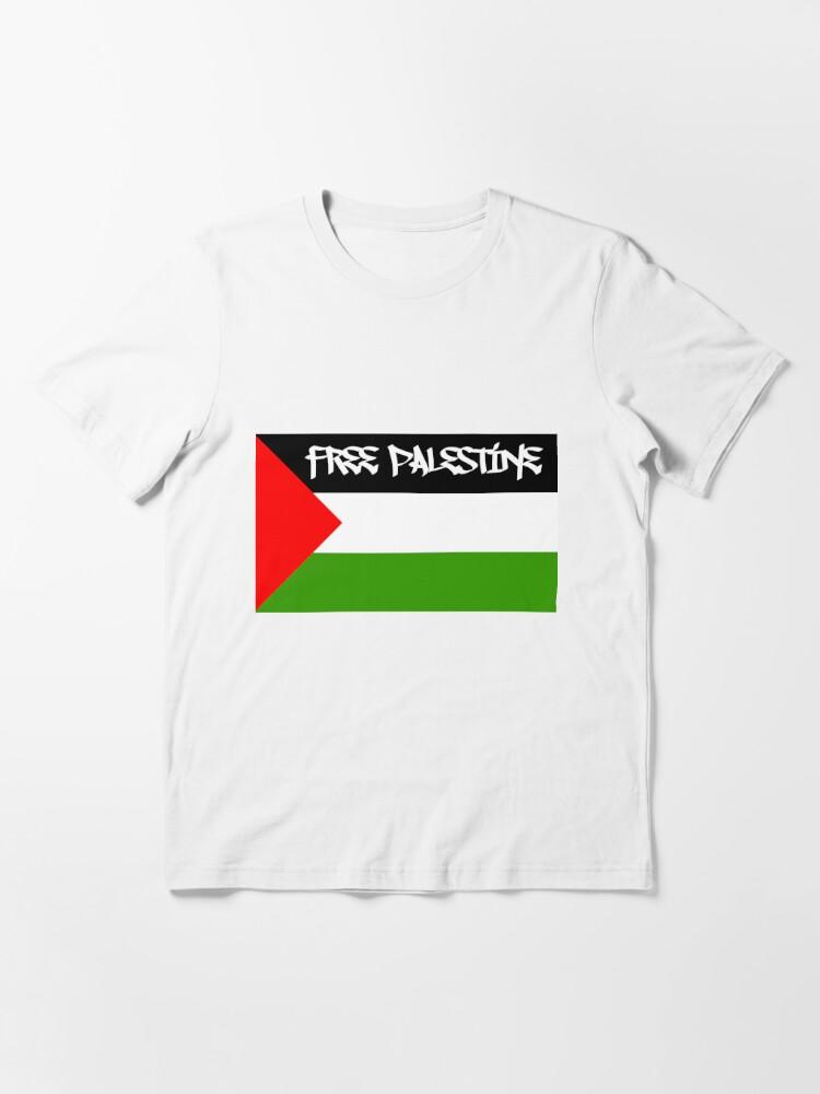 Free Palestine Gaza Palestinian Flag White T-Shirt size S-3XL