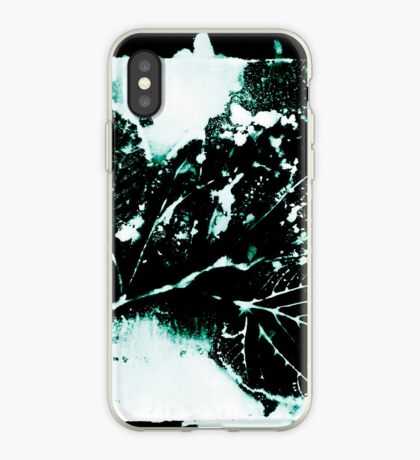 Feuille Charme Turquoise Coque et skin iPhone