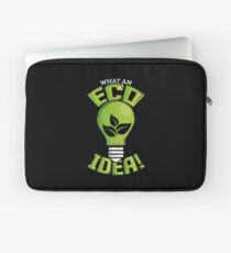 What An Eco Idea Funny Earth Day Laptop Sleeve