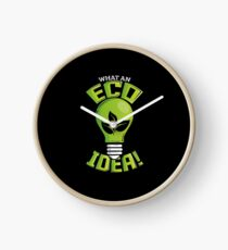 What An Eco Idea Funny Earth Day Clock