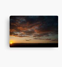 Sundown severn valley Canvas Print