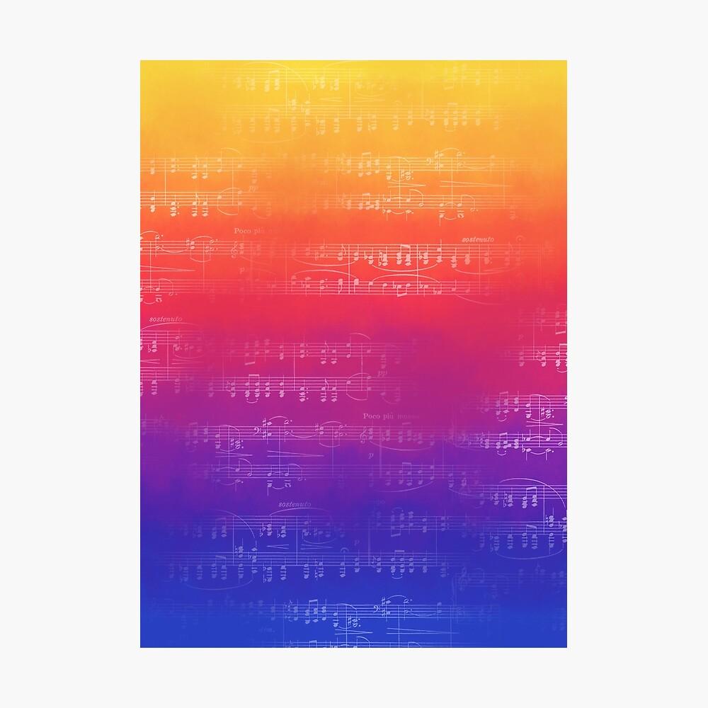 Noten - Regenbogenpartitur Fotodruck