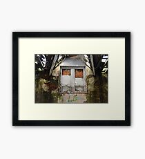 Decayed Window Framed Print