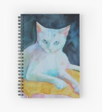 A cat called snowman Spiral Notebook