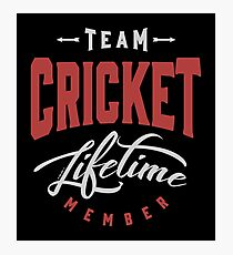 Team Cricket Photographic Print