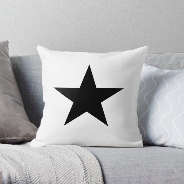 BLACK Star, Dark Star, Black Hole, Stellar, Achievement, Cool. Throw Pillow
