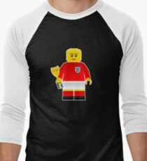 England World Cup 1966 Minifig Men's Baseball ¾ T-Shirt
