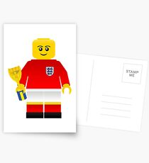 England World Cup 1966 Minifig Postcards
