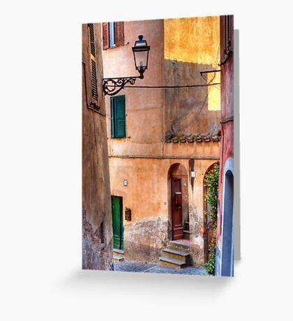 Italian alley Greeting Card