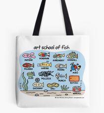 art school of fish Tote Bag