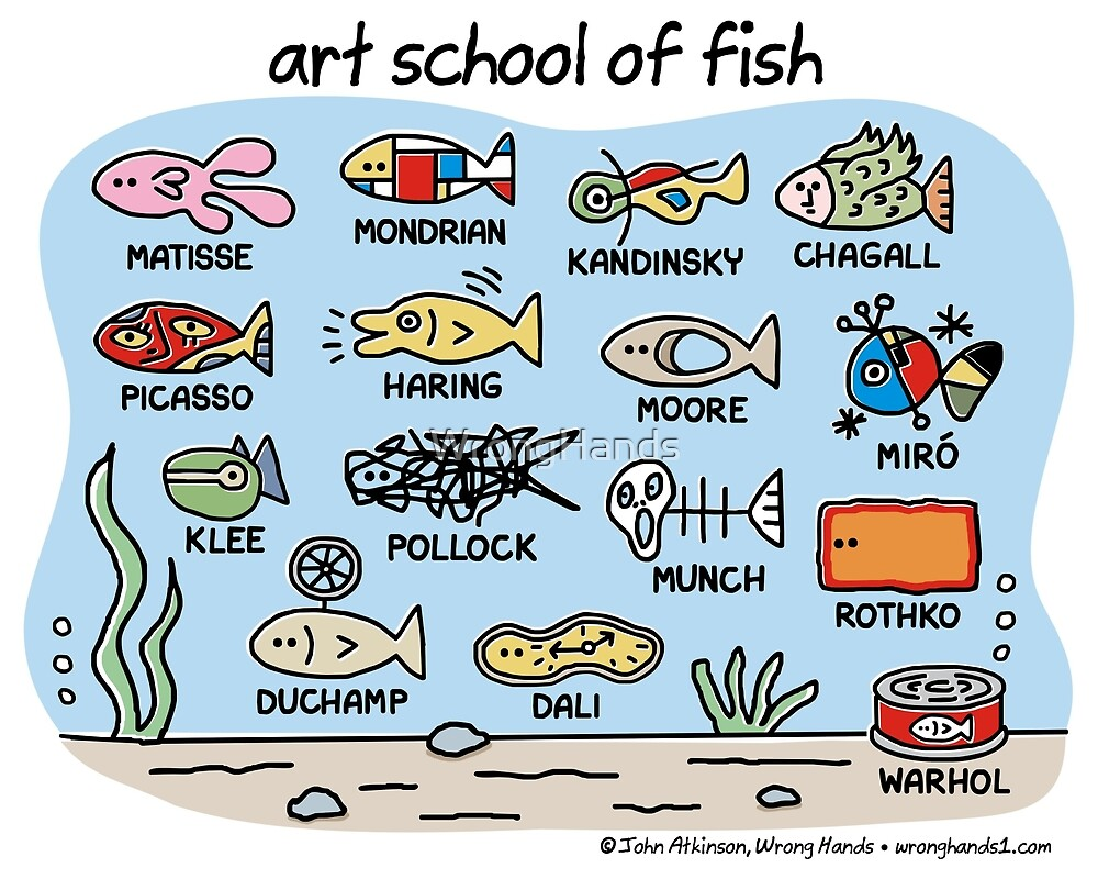 art school of fish by WrongHands