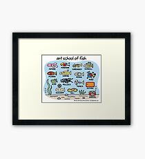 art school of fish Framed Print