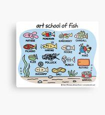 art school of fish Metal Print