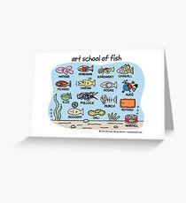 Kunstschule für Fisch Grußkarte