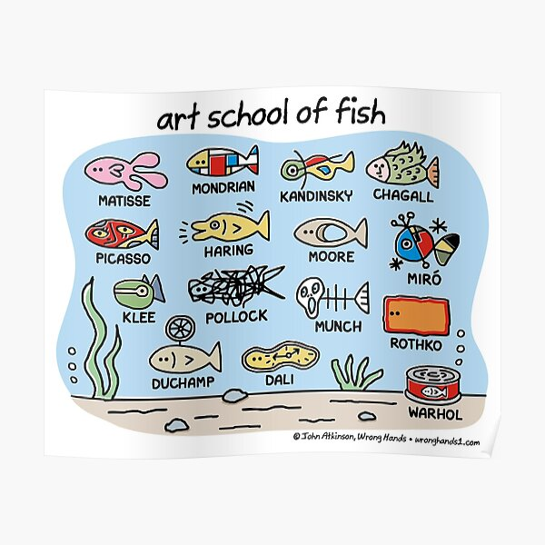 art school of fish Poster