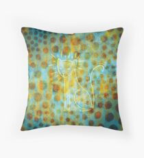 Spotted Cat Throw Pillow