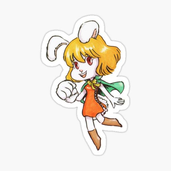 Chibi Carrot one piece Sticker
