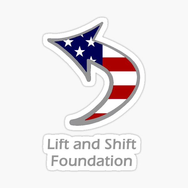 We Lift And Shift  Sticker
