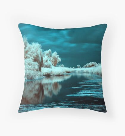 Storm in infrared. Throw Pillow