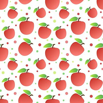 Red Apples Pattern by mrhighsky