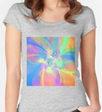 Abstract color mix Fitted Scoop T-Shirt