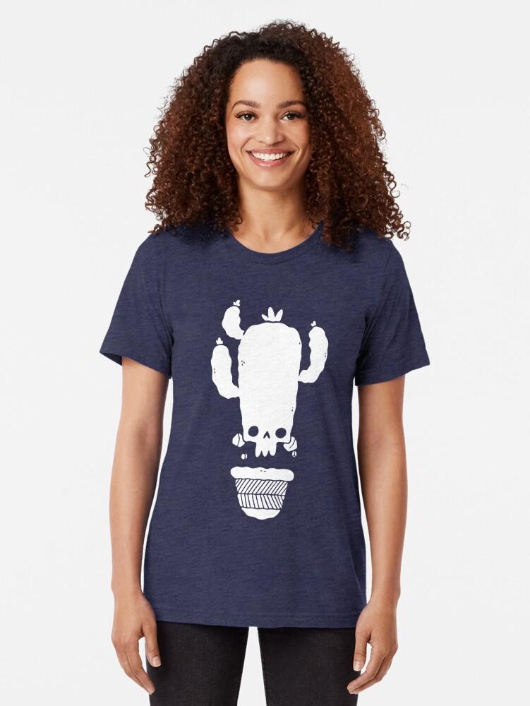 Alternative Ansicht von Schädel Kaktus groß Vintage T-Shirt