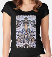 Ceramic tiles, designed by William Morris Women's Fitted Scoop T-Shirt