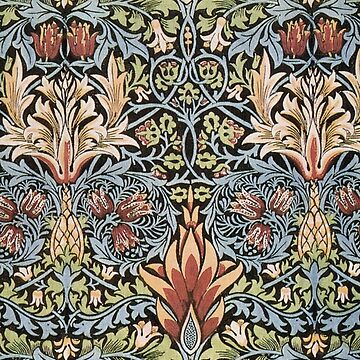 Snakeshead printed textile, William Morris, (1876) by TOMSREDBUBBLE