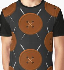 Button and Needles Graphic T-Shirt