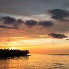 Silhouette of a island in the Florida Keys by Adam Nixon