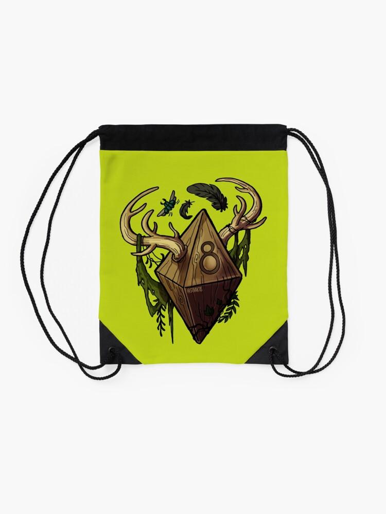 Alternate view of D&D Dice - Druid Drawstring Bag